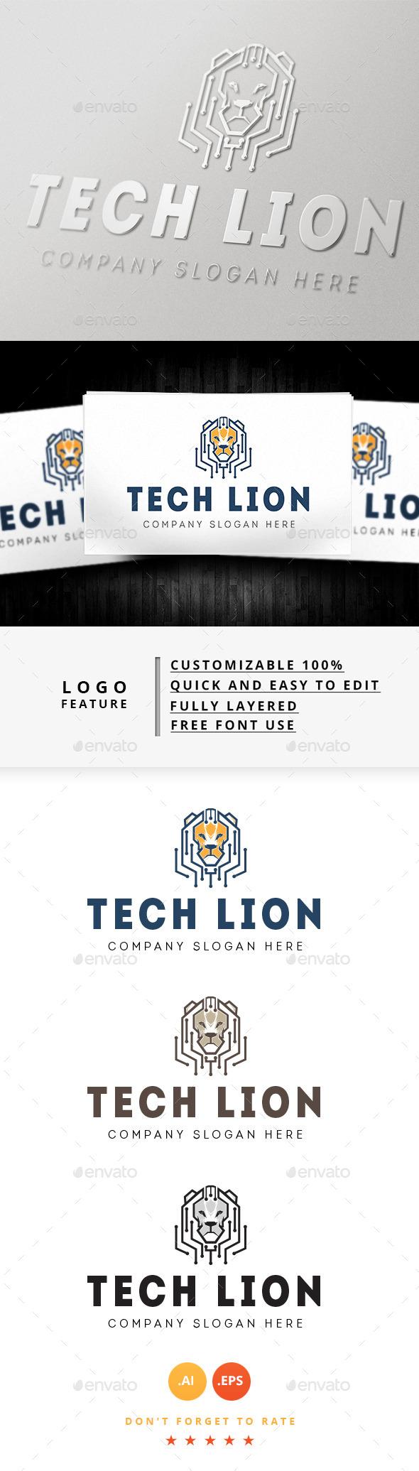 GraphicRiver Tech Lion Logo 8932626