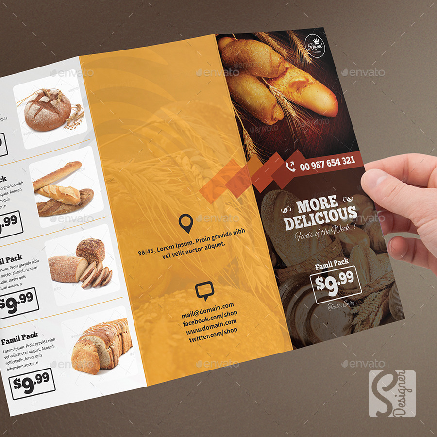 Bakery Food Trifold Brochure by S-Designer2 | GraphicRiver