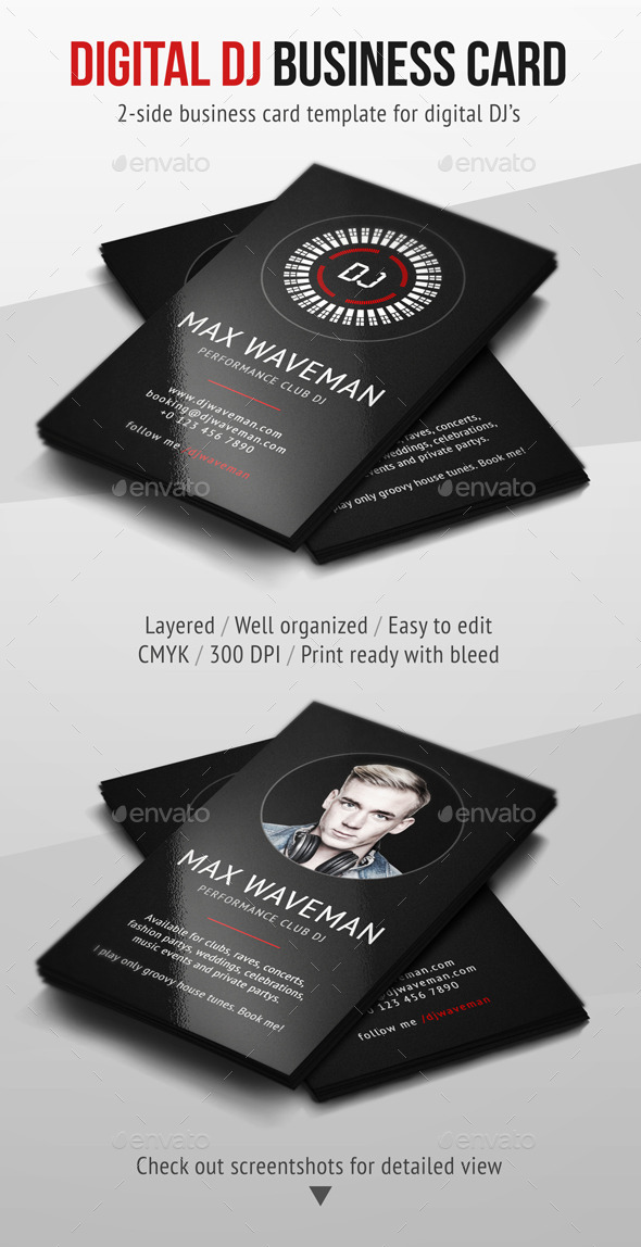 GraphicRiver Digital DJ Business Card 8932875