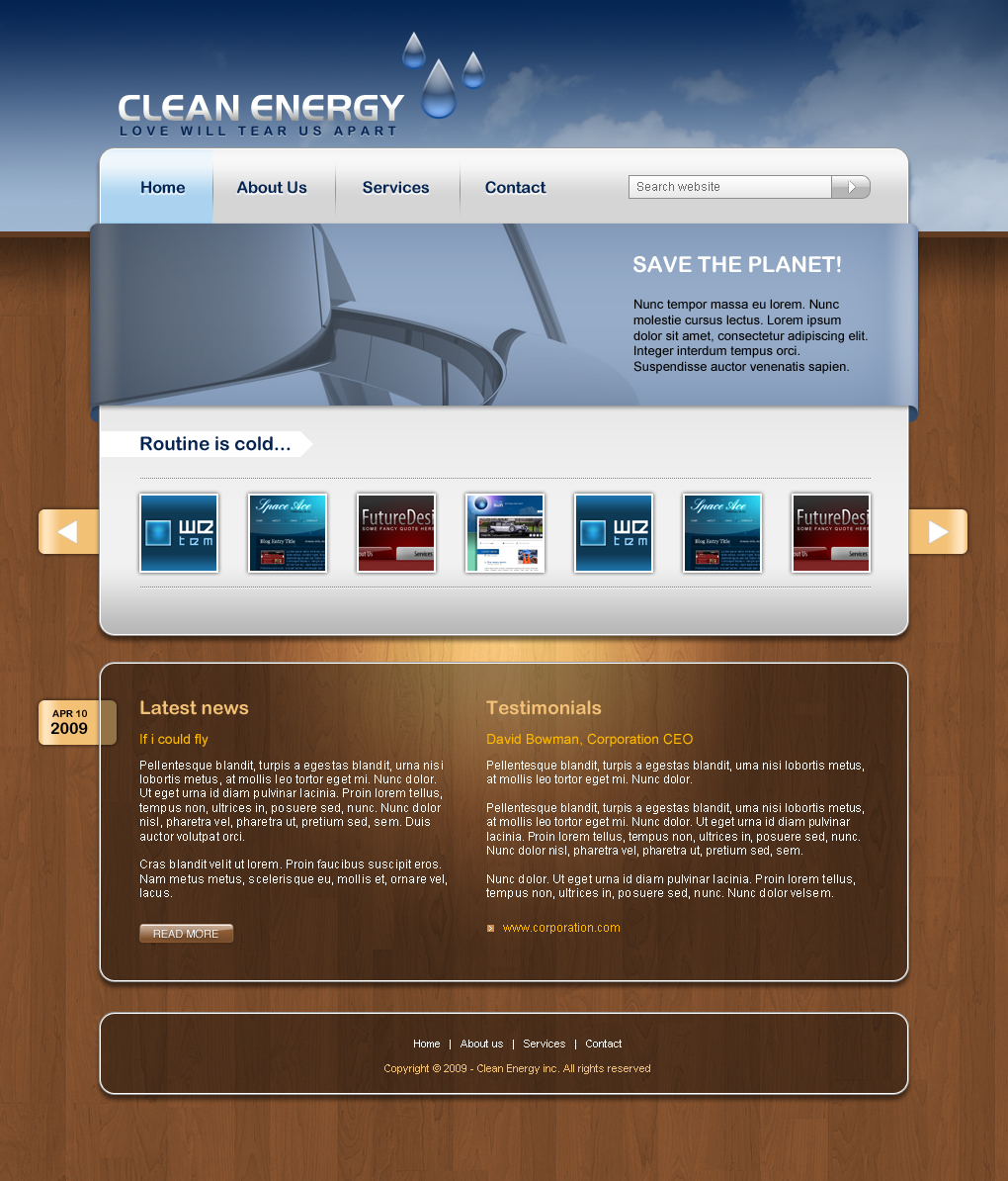 Clean Energy business web template