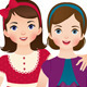 Girls Friends - GraphicRiver Item for Sale