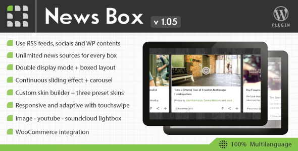 News Box Wordpress Contents Slider and Viewer