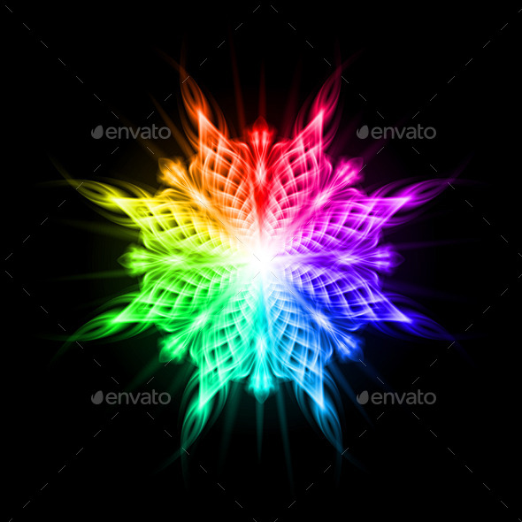 GraphicRiver Multicolored Pattern on the Black Background 8933115