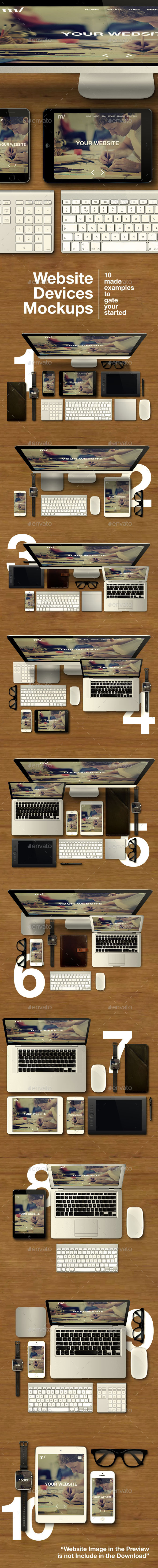 GraphicRiver Website Devices Mockups 8933130