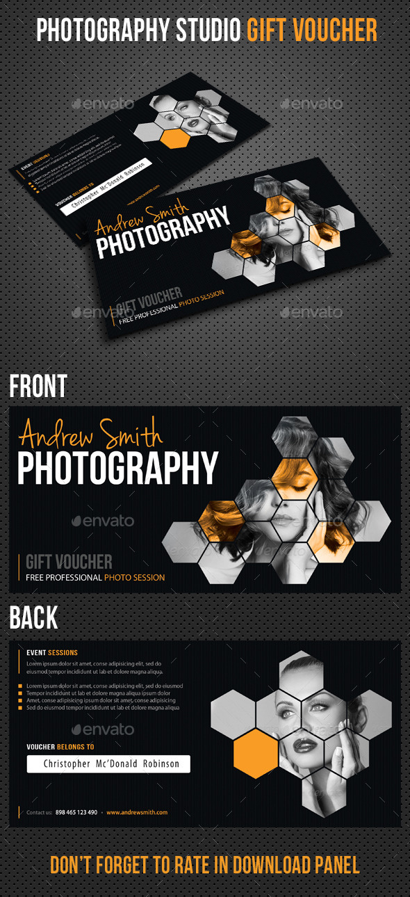 GraphicRiver Photography Studio Gift Voucher 8933138