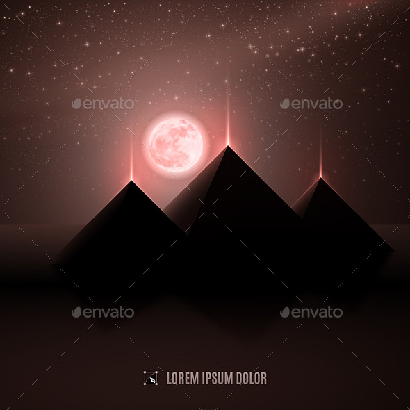 GraphicRiver Brown Pyramid Landscape 8933196