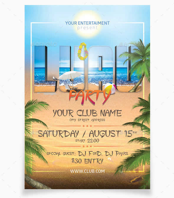 GraphicRiver Luau Party 7998990