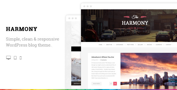 ThemeForest Harmony Clean Responsive Wordpress Blog Theme 8933312