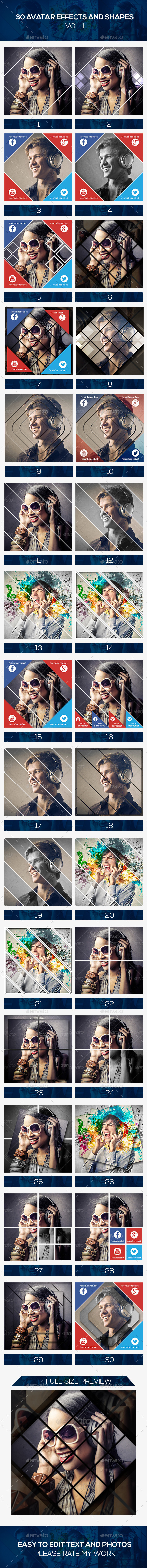 GraphicRiver 30 Avatar Effects 8933493