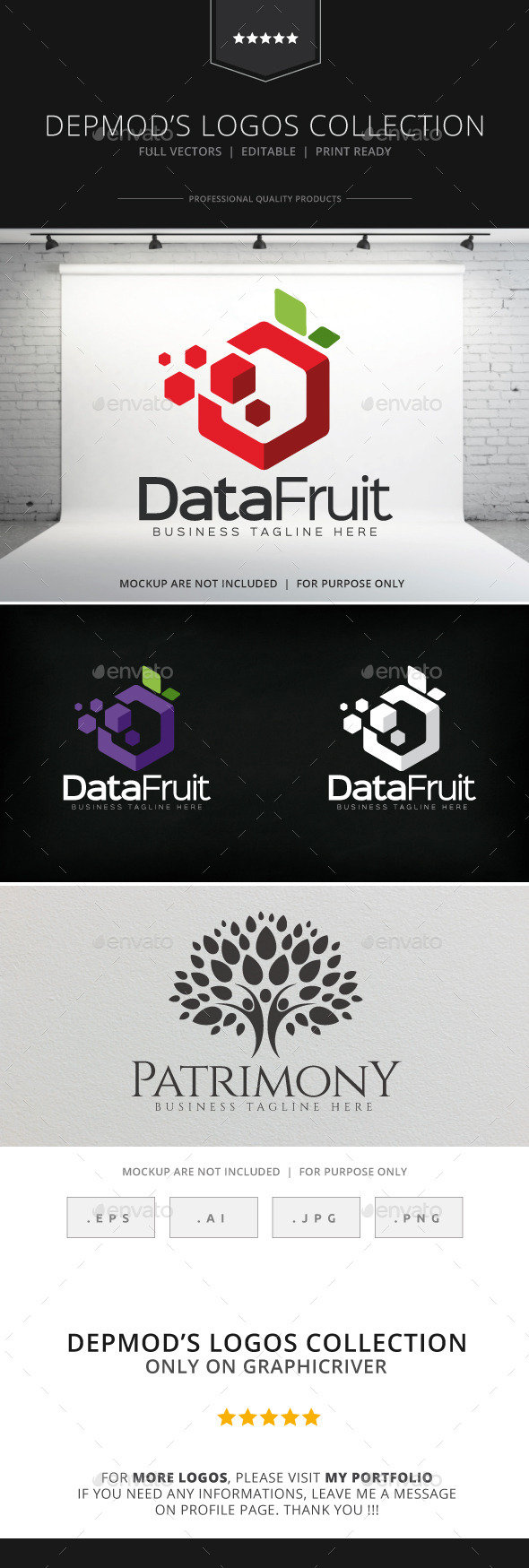 GraphicRiver Data Fruit Logo 8933499