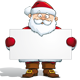 Happy Santa - Holding a Label  - GraphicRiver Item for Sale