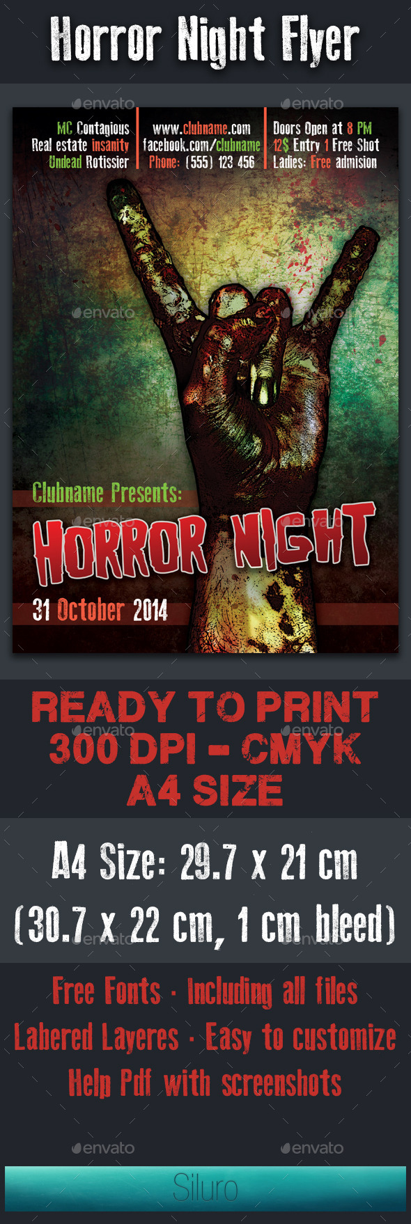GraphicRiver Horror Night Flyer 8933606