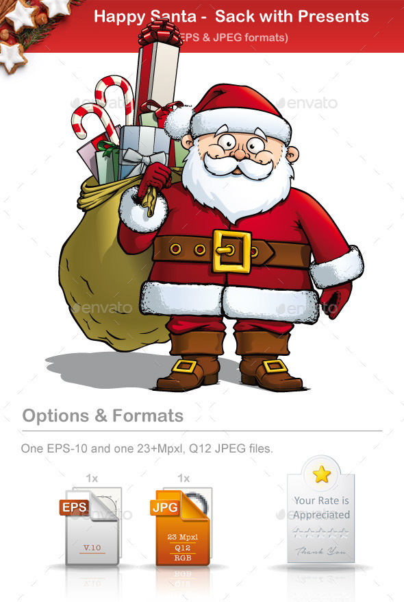 GraphicRiver Happy Santa Sack with Presents 8933623