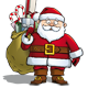 Happy Santa - Sack with Presents - GraphicRiver Item for Sale