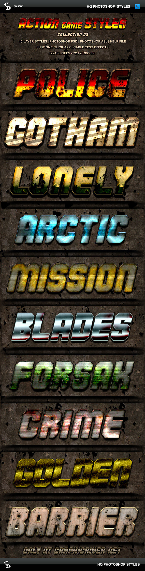 GraphicRiver Action Game Styles Collection 3 8933640
