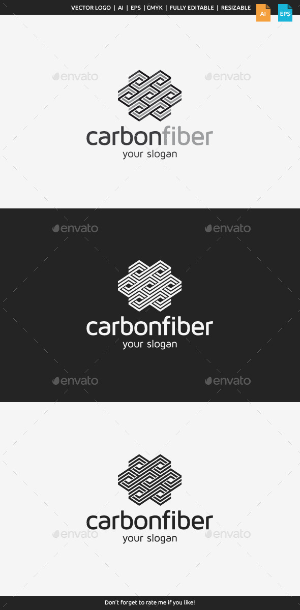 GraphicRiver Carbon Fiber Logo 8933644