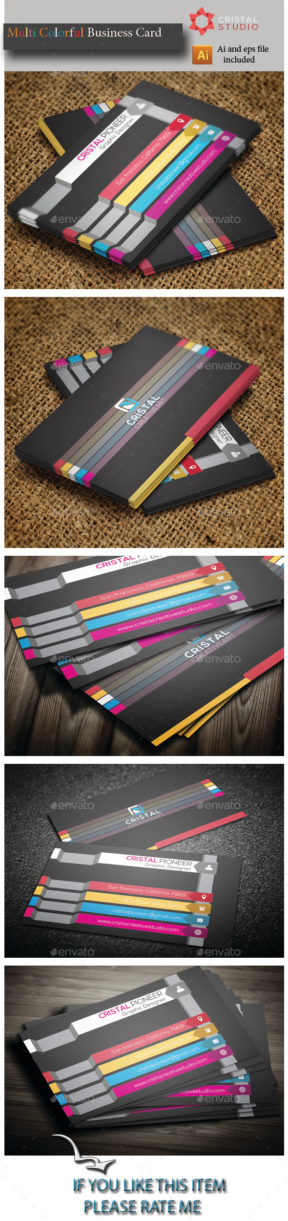 GraphicRiver Multi Colour Business Card 8933697
