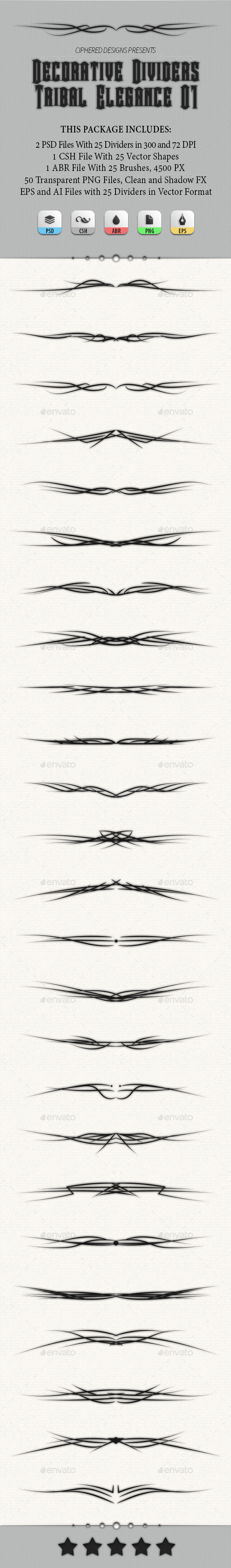 GraphicRiver Decorative Dividers Tribal Elegance 01 8933954