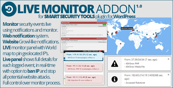 CodeCanyon Smart Security Tools Live Monitor Addon 8934030