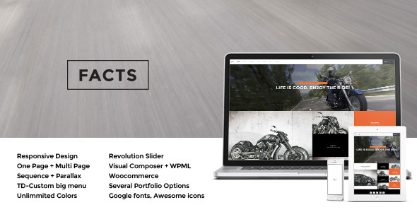 ThemeForest Facts Responsive MultiPurpose Wp Theme 8156054