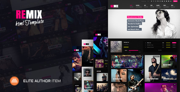 Remix Music and Band HTML5 Template