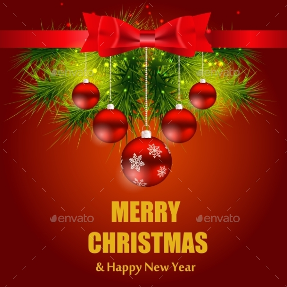 GraphicRiver Christmas and New Year Background 8934191