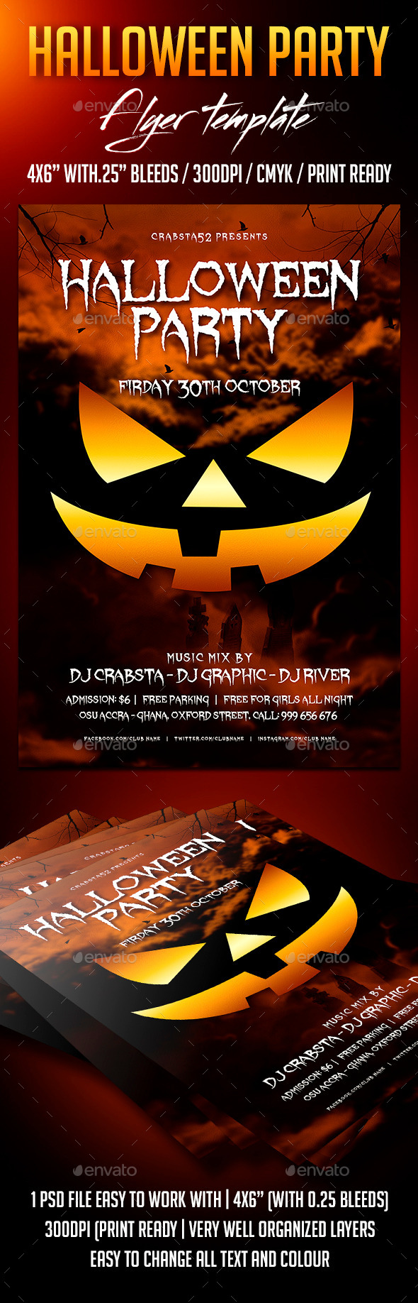 GraphicRiver Halloween Party Flyer Template 8934276