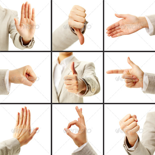 Language of gestures - Stock Photo - Images