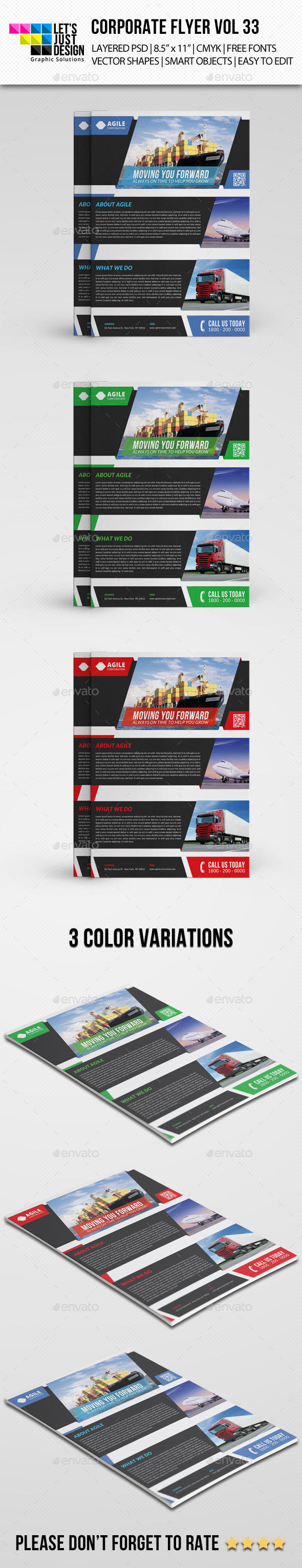 GraphicRiver Corporate Flyer Template Vol 33 8934714