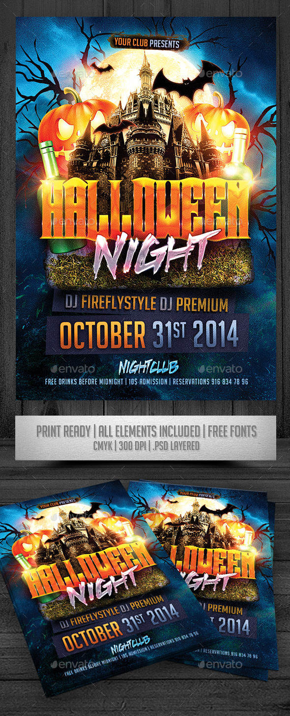 GraphicRiver Halloween Night Flyer 8934719