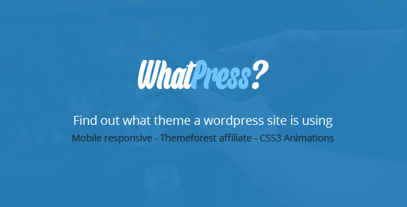 WhatPress Find what theme a WP site is using