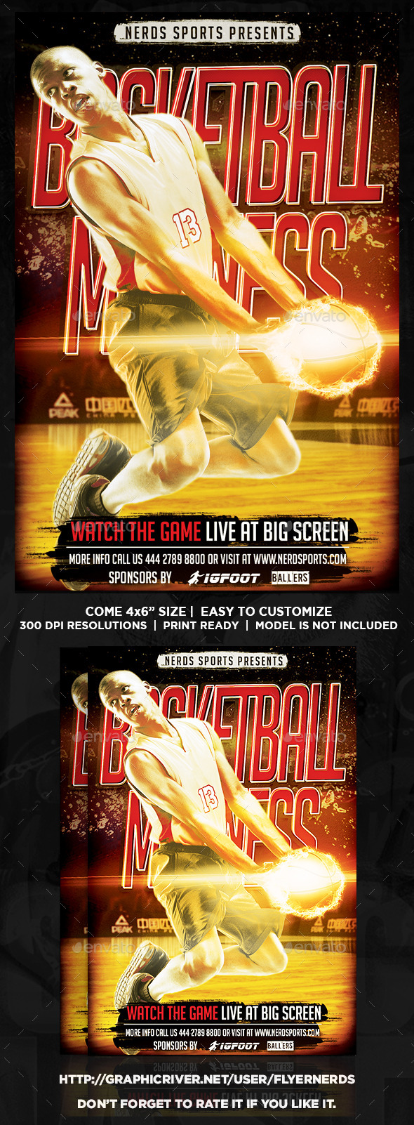GraphicRiver Basketball Madness Sports Flyer 8934939