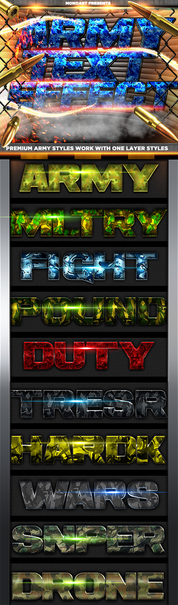 GraphicRiver Army Styles 8934949