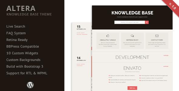 Altera - Knowledge Base Wordpress Theme