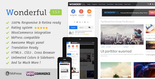 Wonderful Personal Minimalist Wordpress Blog Theme - Personal Blog / Magazine