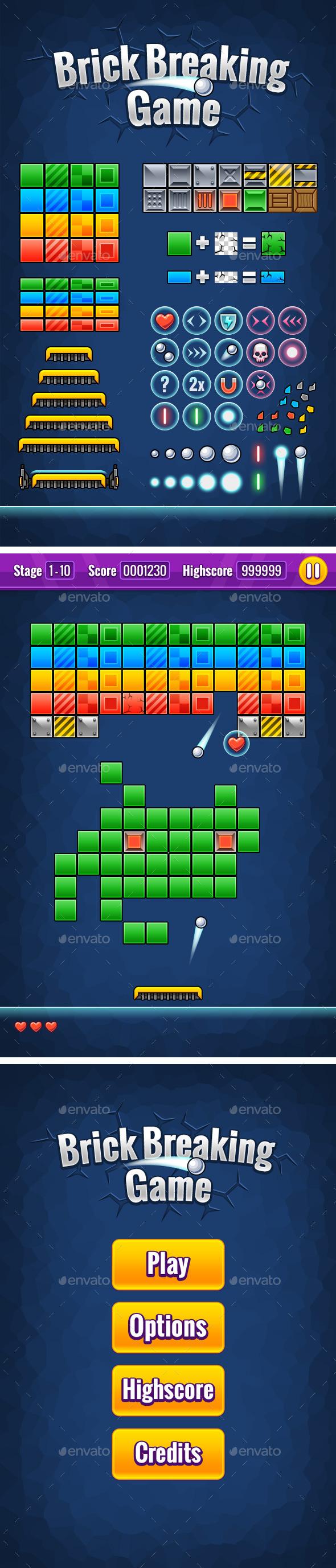 GraphicRiver Brick Breaking Game 8935414