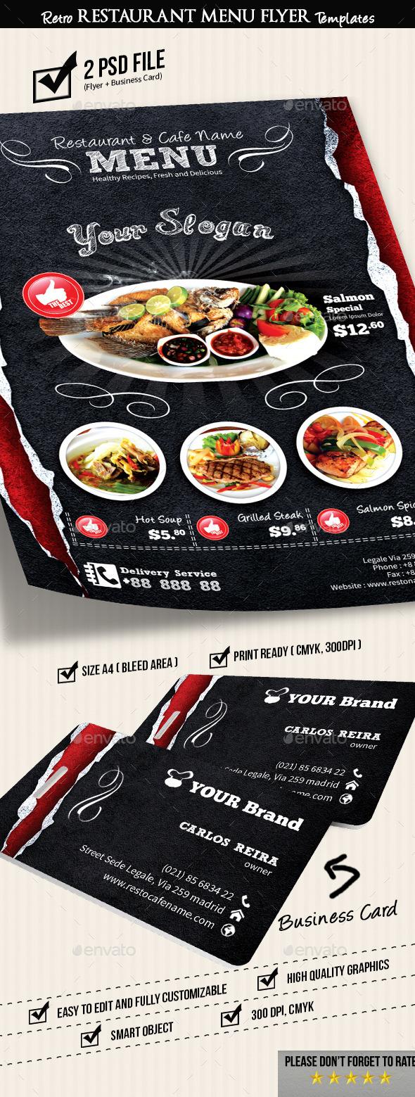 GraphicRiver Retro Restaurant Menu Flyer Templates v2 8919184