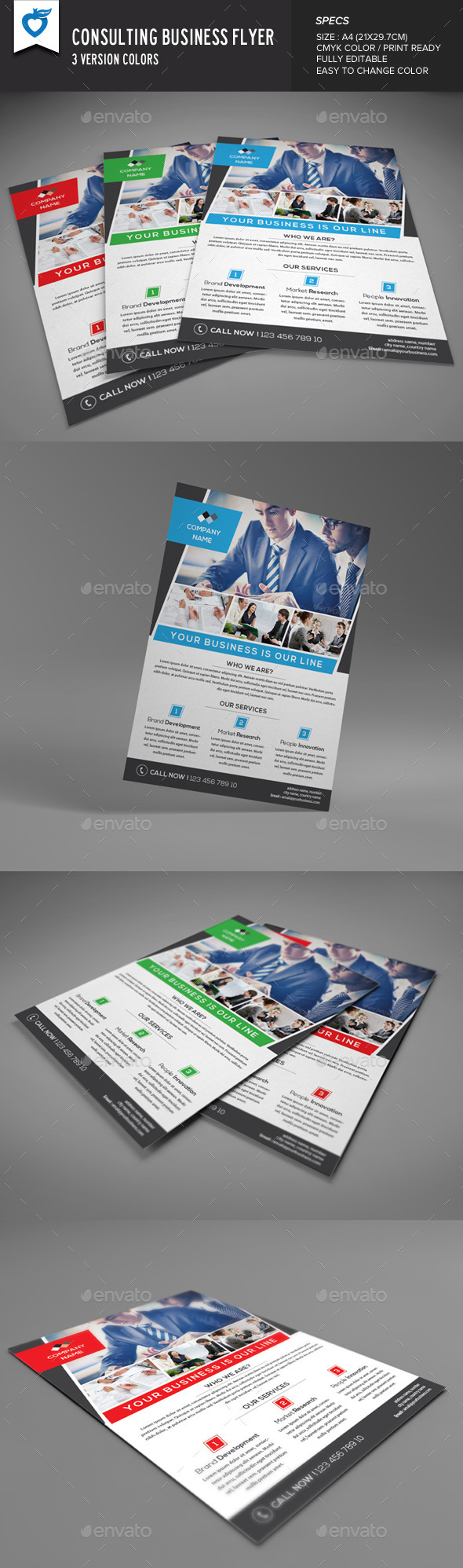 GraphicRiver Consulting Business Flyer 8935470
