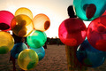 Girl on Beach with Colorful Balloons - PhotoDune Item for Sale