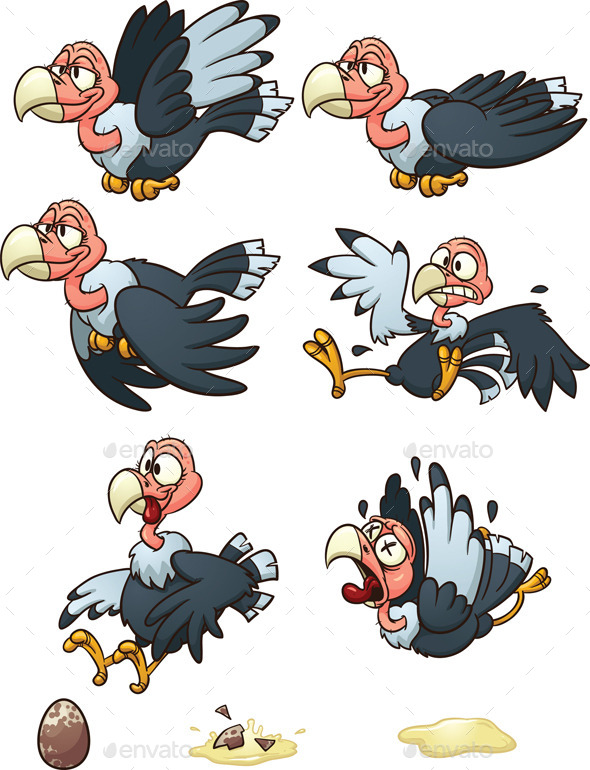 GraphicRiver Cartoon Vulture 8935514