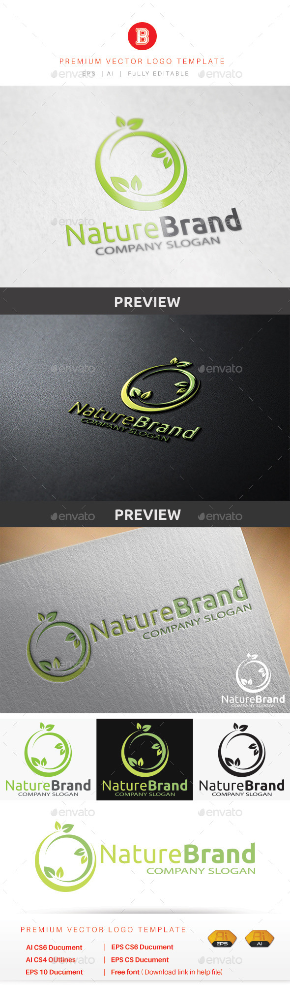 GraphicRiver Nature Brand 8935522