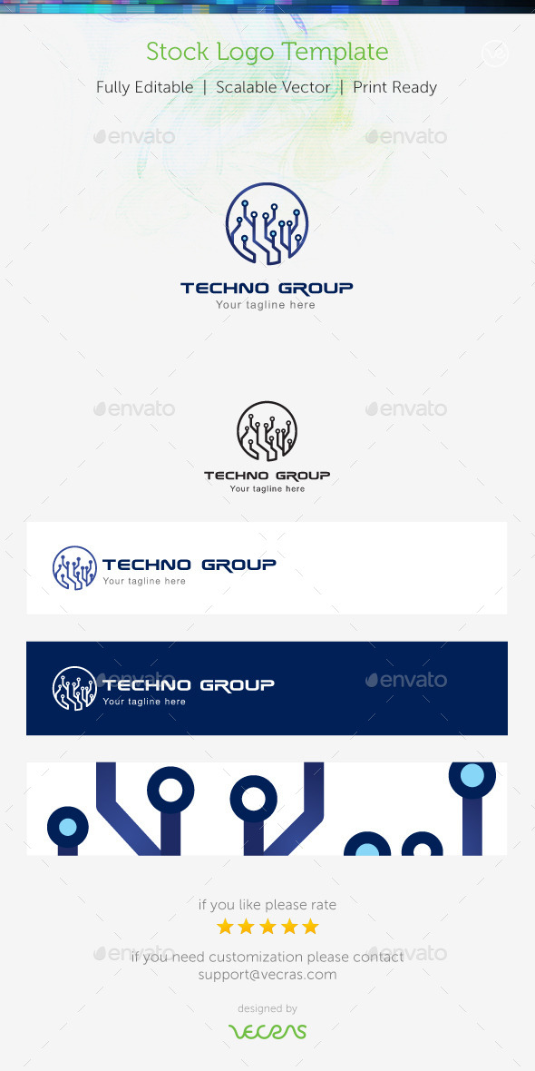 GraphicRiver Techno Group Stock Logo Template 8936222