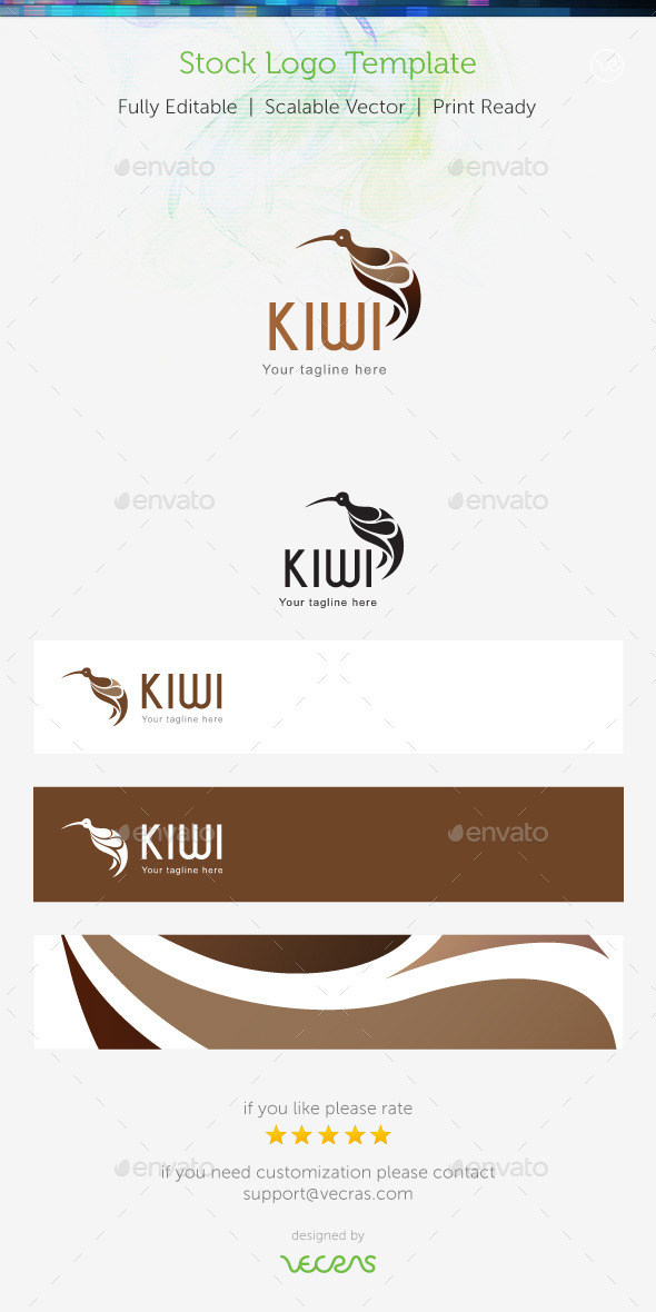 GraphicRiver Kiwi Stock Logo Template 8936225