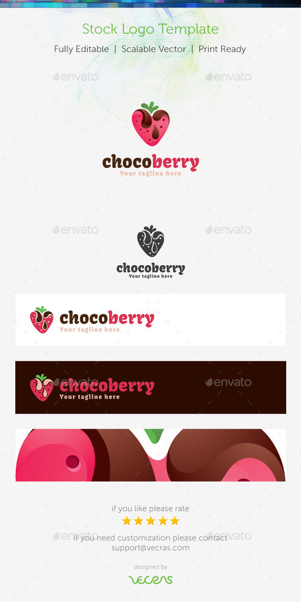 GraphicRiver ChocoBerry Stock Logo Template 8936230
