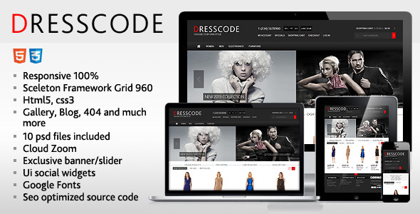 ThemeForest Dresscode Responsive HTML Template 8936354