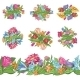Set of Floral Designs and Seamless Border - GraphicRiver Item for Sale