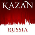Kazan Russia city skyline silhouette red background - PhotoDune Item for Sale