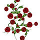 Red Roses with Leaves - GraphicRiver Item for Sale