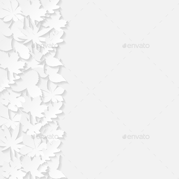 GraphicRiver Abstract Background with Paper Leaves 8929854