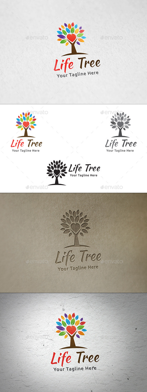 GraphicRiver Life Tree Logo Template 8936858